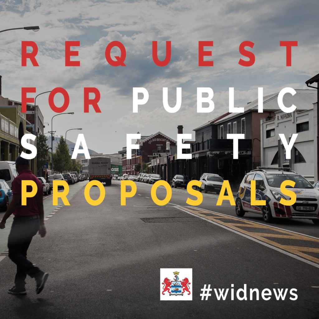 Invitation to submit a proposal for the rendering of Public Safety Patrols and CCTV Monitoring
