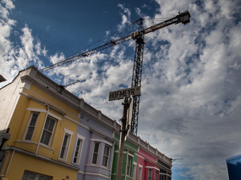 Hofmeyr street crane Woodstock painted houses