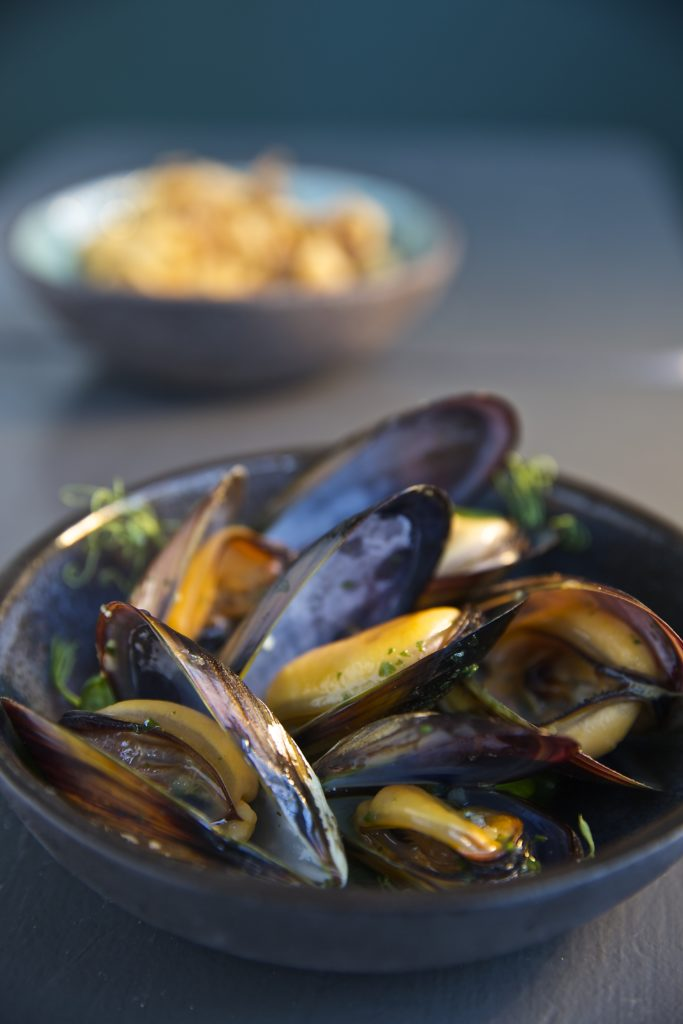 mussels at Ocean Jewels Seafood, women-owned businesses in Woodstock, Cape Town